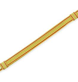 Sturmriemen Feuerwehr Mützenriemen Schirmmützen Riemen gold mit rot ziehbar
