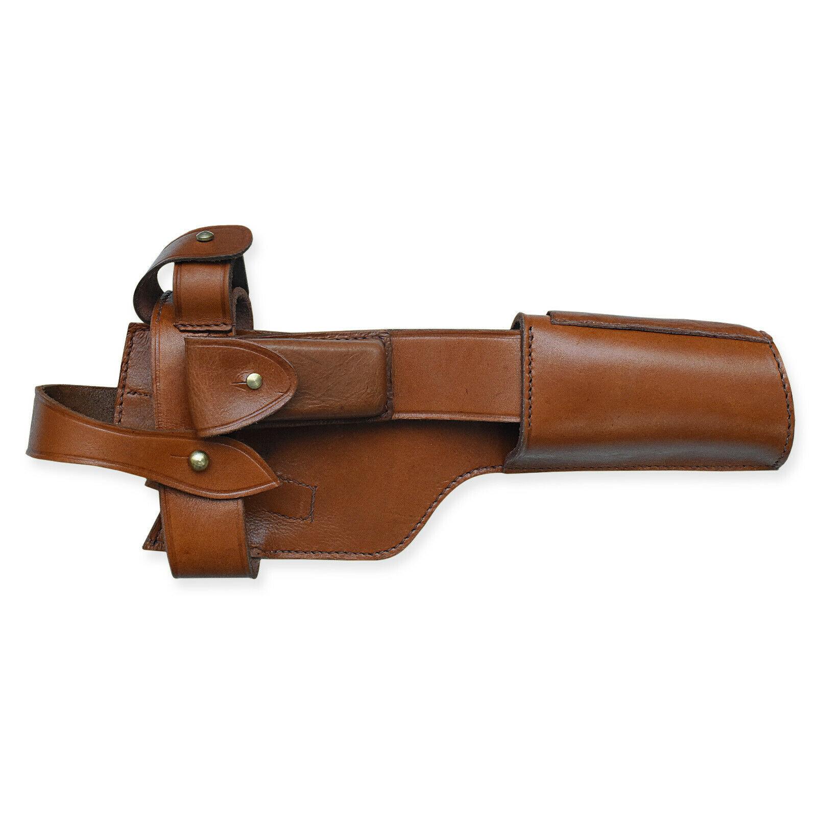 WW2 Mauser C96 Holster Anschlagschaft WH WWI Rindleder Pistolentasche