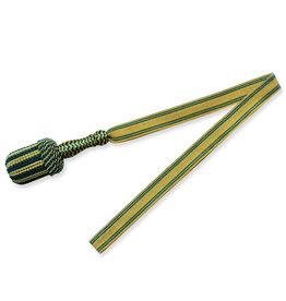 Vereinsbedarf Bhutta Gold/grün Portepee mit gold/grün Tresse - große, runde Quaste