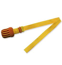 Vereinsbedarf Bhutta Gelb/Rot Portepee mit gelb Tresse - Grosse Ausführung