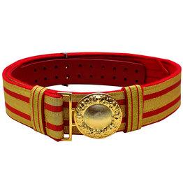 Feldbinde gold mit roten Streifen (rot National)