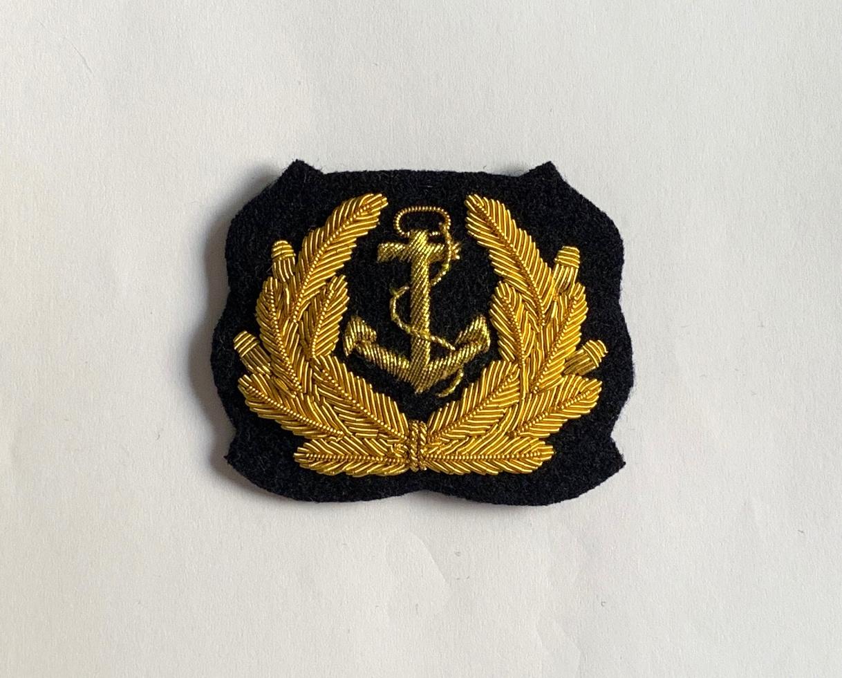 Bundeswehr Marine Handgesticktes Schirmmütze Abzeichen