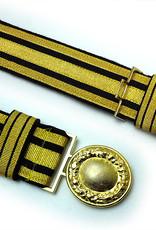 Feldbinde gold mit schwarzen Streifen (schwarz National)