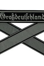 WH Ärmelband ''Grossdeutschland'' auf schwarz gewebt Bevo Cuff title