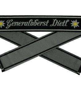WH Ärmelband ''Generaloberst Dietl''  gewebt Bevo Cuff title