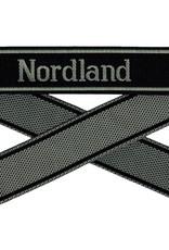 WWII Elite Ärmelband ''Nordland'' gewebt WH Cuff title BEVO