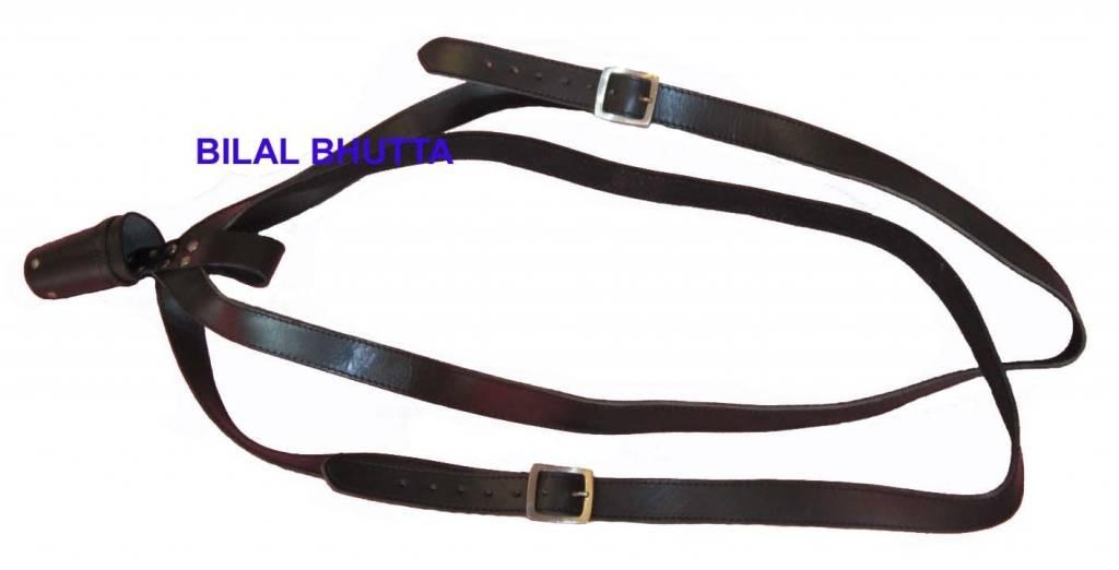 Schwarz Kreuztragegurt für Standartenfahne aus Rinderleder