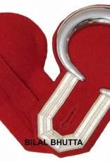 Epauletten silber mond und Tresse (ein Paar)