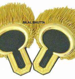 Epauletten mit gold mond & Fransen (ein Paar)