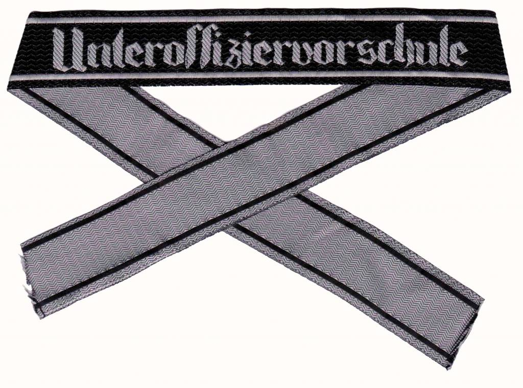 "WH Ärmelband ""Unteroffiziervorschule"" gewebt Bevo Cuff title"