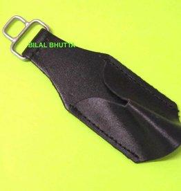 schwarz Hirschfängertasche aus Rindleder