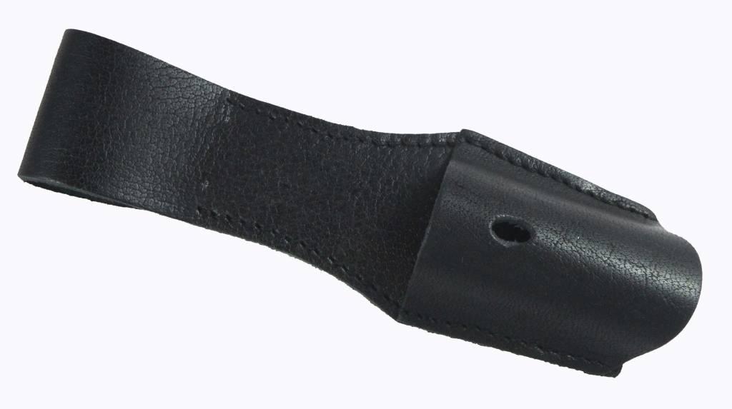 Schwarz Koppelschuhe aus Rindleder