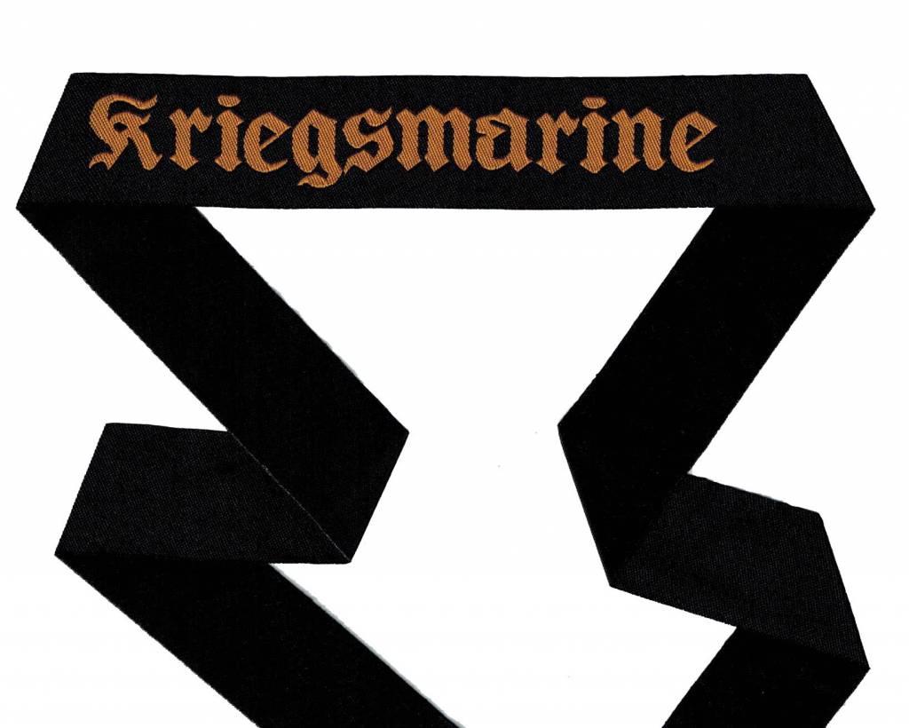WWII Marine Mützenband ''Kriegsmarine'' gewebt