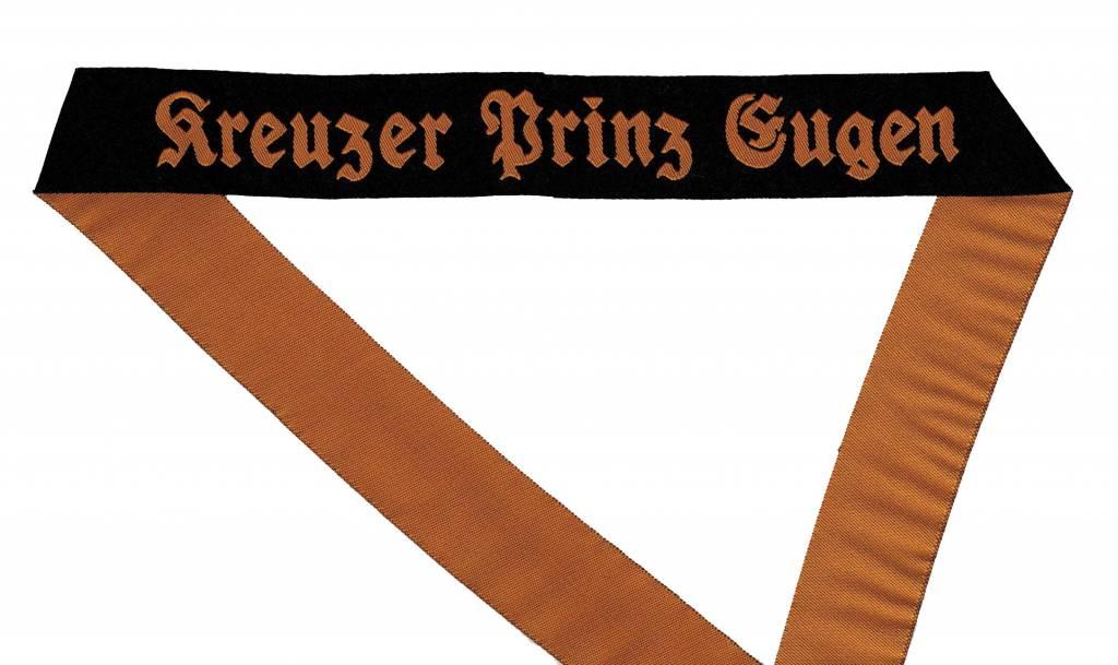 WWII Marine Mützenband Kreuzer Prinz Eugen gewebt