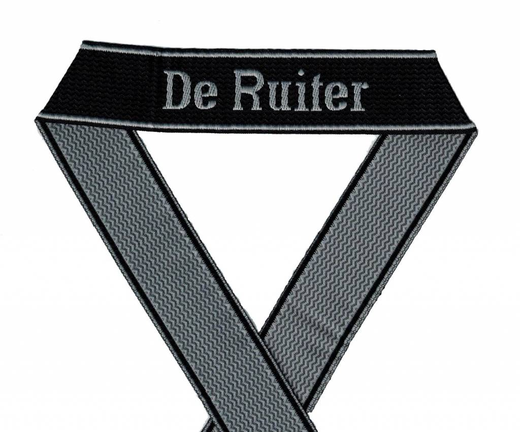 WWII Elite Ärmelband ''De Ruiter'' gewebt WH Cuff title BEVO