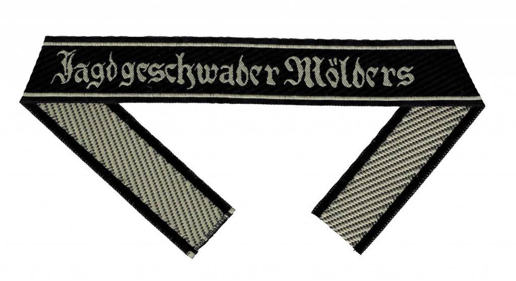 """WH Ärmelband """"Jagdgeschwader Mölders"""" Bevo Cuff title"""
