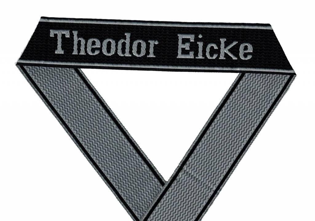 WWII Elite Ärmelband ''Theodor Eicke'' gewebt WH Cuff title BEVO