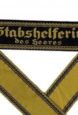 WH Ärmelband ''Stabshelferin des Heeres'' gewebt Cuff title BEVO