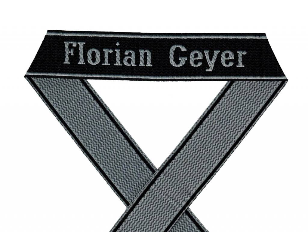 WWII Elite Ärmelband ''Florian Geyer'' gewebt WH Cuff title BEVO