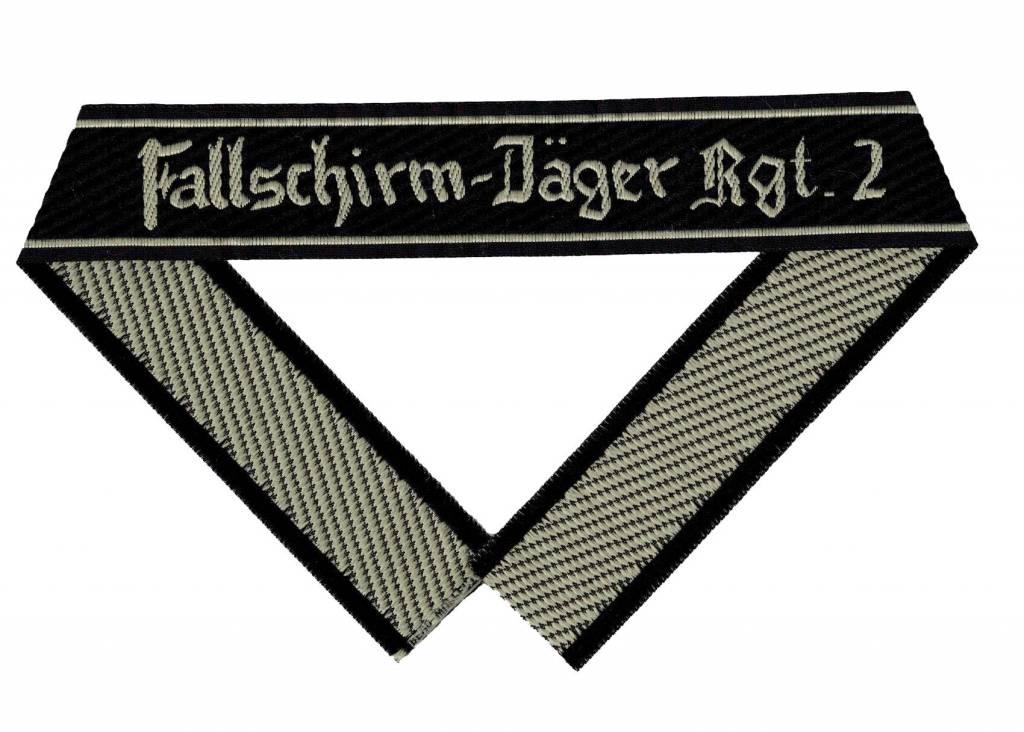 """WH LW Ärmelband """"Fallschirm-Jäger Rgt.2"""" Bevo cuff title"""