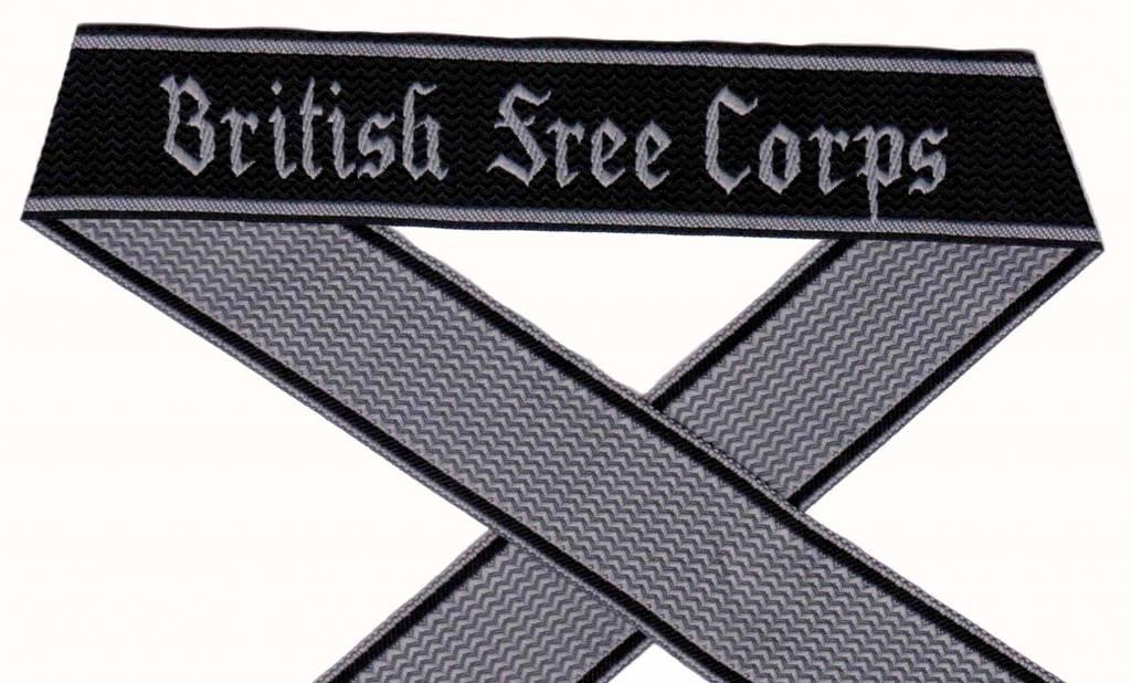 WH Elite Ärmelband ''British free Corps'' gewebt Cuff title Bevo
