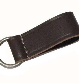 WWII Koppelschlaufe aus Echt schwarz Leder WH