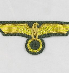 WW2 handgestickter Heer General Brustadler auf Feldgrau