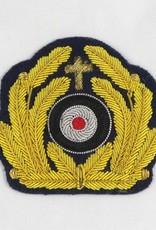 WWII German WH Marine Pfarrer Schirmmütze Abzeichen