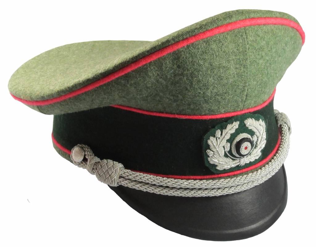 WWII German Heer Offizier Schirmmütze Panzer WH Visor Hat