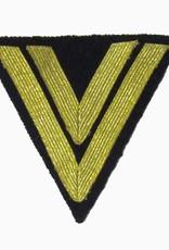 """Kriegsmarine Rangabzeichen """"Obergefreiter"""", Dunkelblau Winkel"""