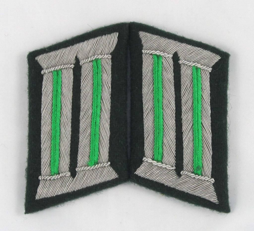 WH German Heer Offizier Kragenspiegel, Collar Tabs - Repro