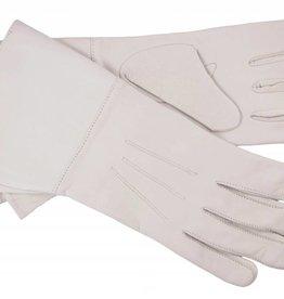 Stulpenhandschuhe aus Weisse Ziegenleder