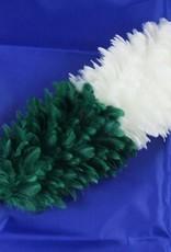 grün-weiß Federbusch - Klein