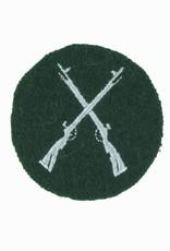 Ärmelabzeichen Gewehre - silbergrau