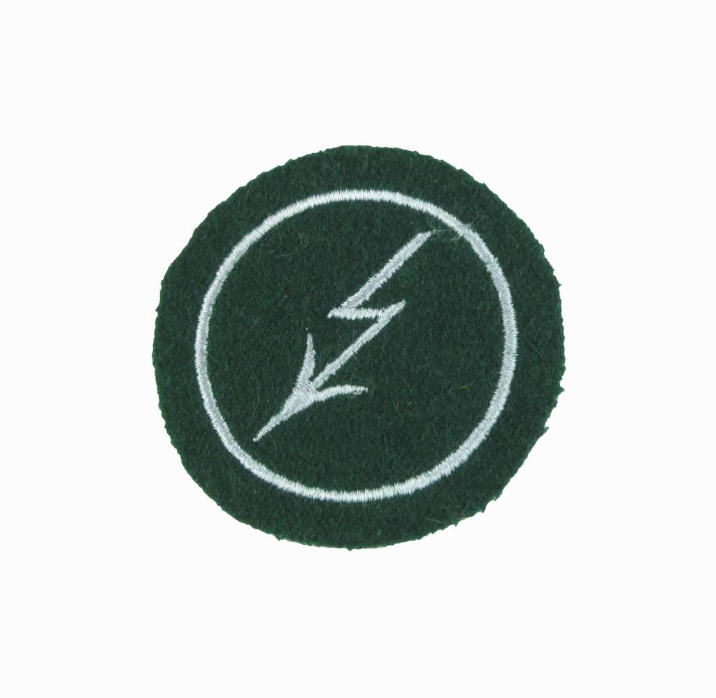 Blitz mit Umrandung - silbergrau