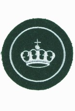 Krone mit Umrandung - silbergrau