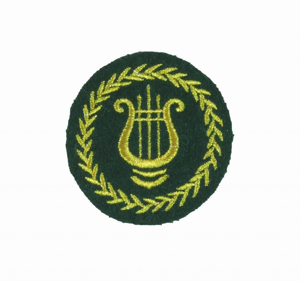Lyra mit Eichenlaubkranz - goldlurex