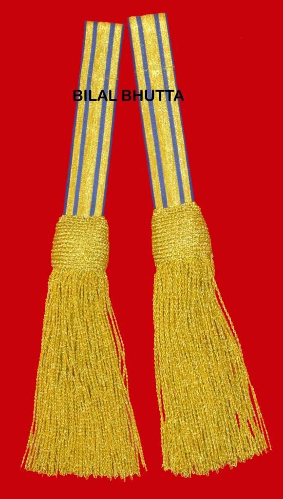 Schärpenquasten - gold/blau