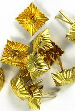 Metall Stern 21mm x 21mm (silber oder gold)