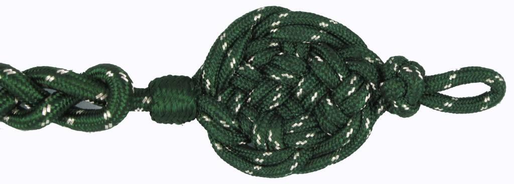 grün Schützenschnur mit silber National, Schießschnur