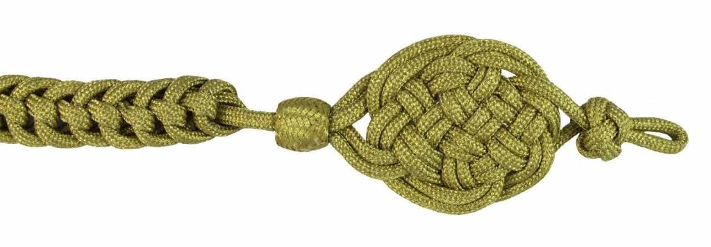 Gold Schützenschnur Kettenzopfgeflecht, Schießschnur - 50cm