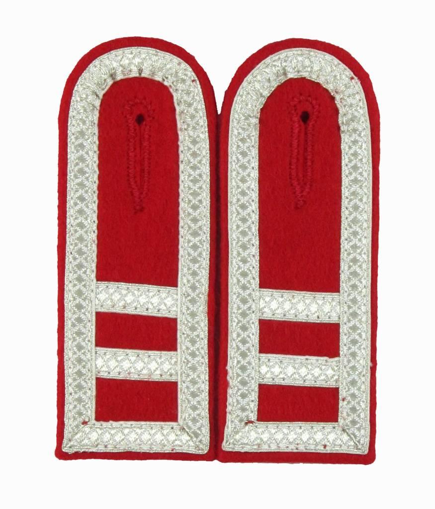 rot Schulterklappen mit silber Tresse