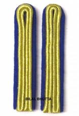 2-streifige Schulterstücke in goldfarbig