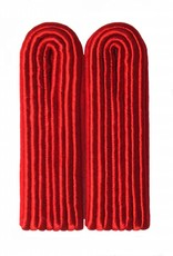 4-streifige Schulterstücke - rot
