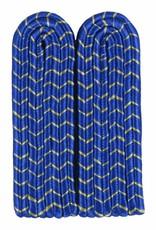 4-streifige Schulterstücke - blau mit gold National