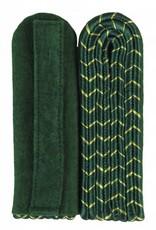 4-streifige Schulterstücke - grün mit gold National