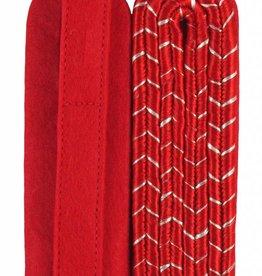 4-streifige Schulterstücke - rot mit silber National