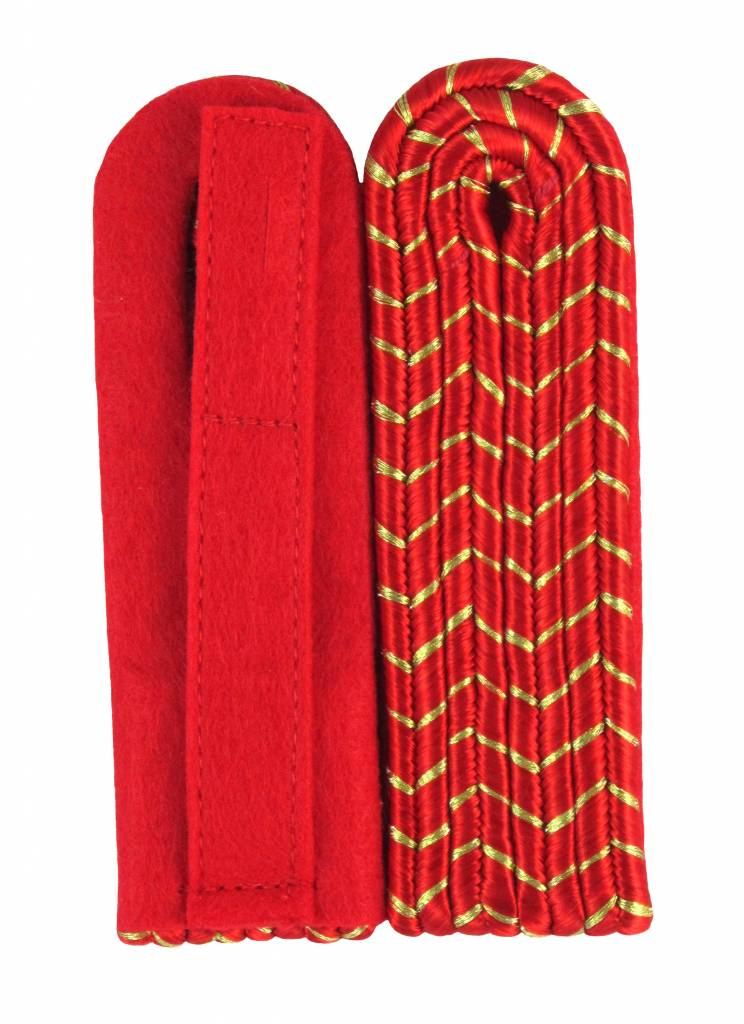 4-streifige Schulterstücke - rot mit gold National