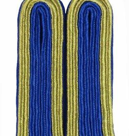 4-streifige Schulterstücke in gold/blau für Unteroffizier