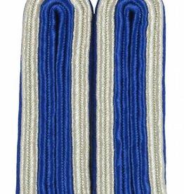 4-streifige Schulterstücke silber/blau für Unteroffizier